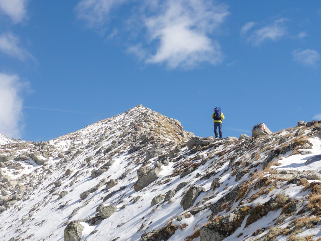 Arnoweg: Aufstieg zum Fleißkees auf dem Rücken einer Gletschermoräne