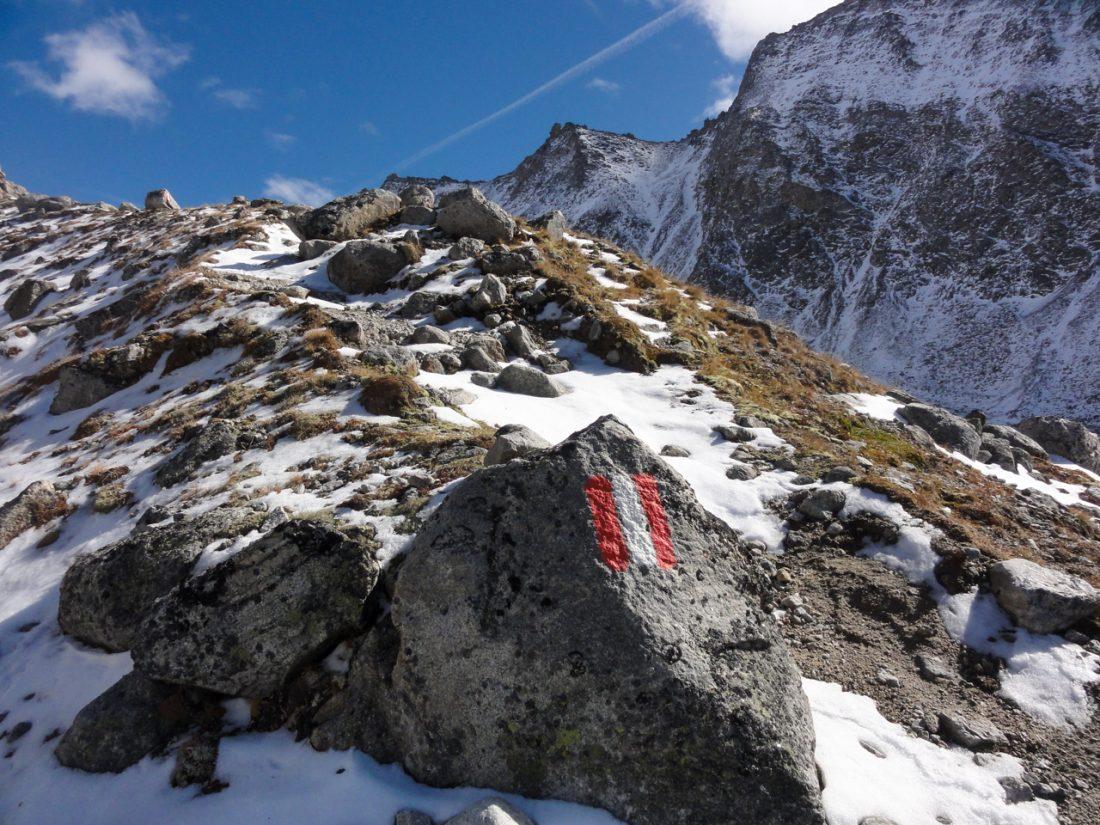 Arnoweg: Der Weg wird weniger, der Schnee wird mehr